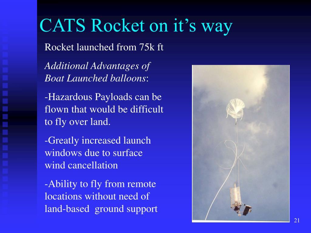 CATS Rocket on it's way