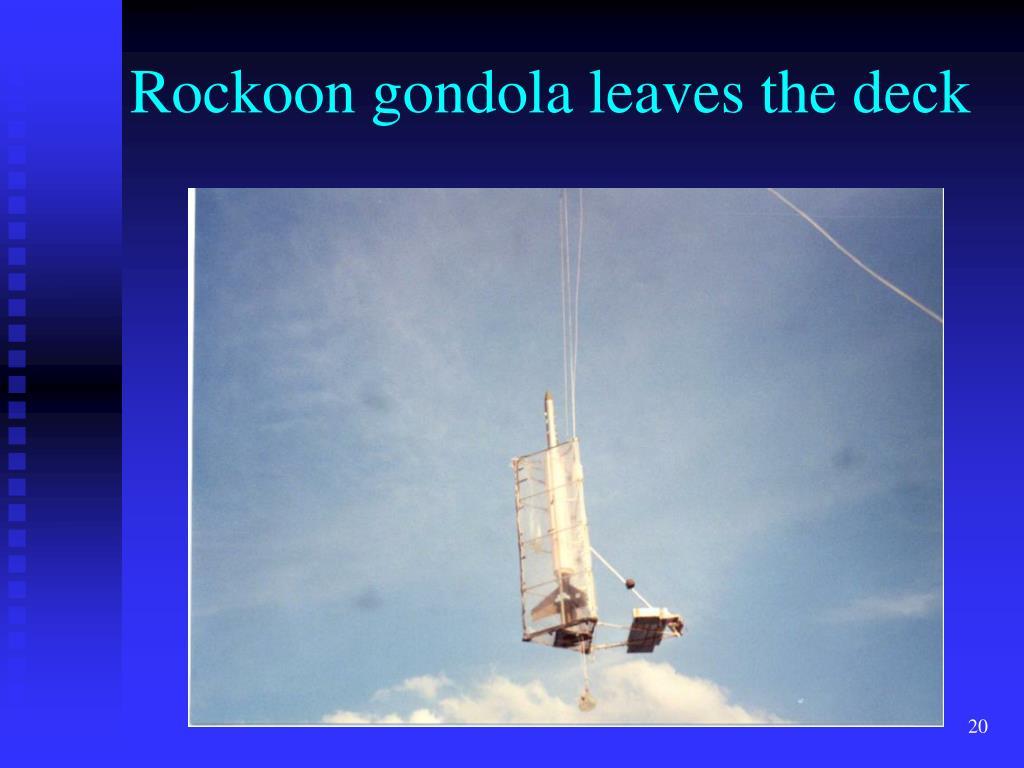 Rockoon gondola leaves the deck