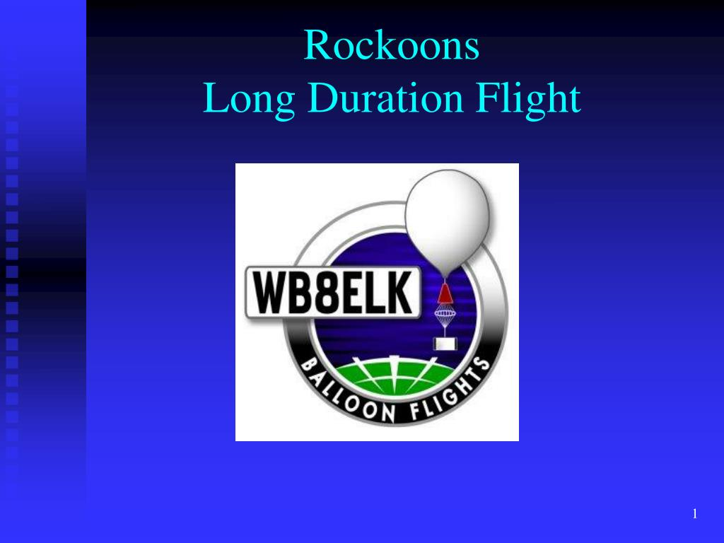 rockoons long duration flight l.