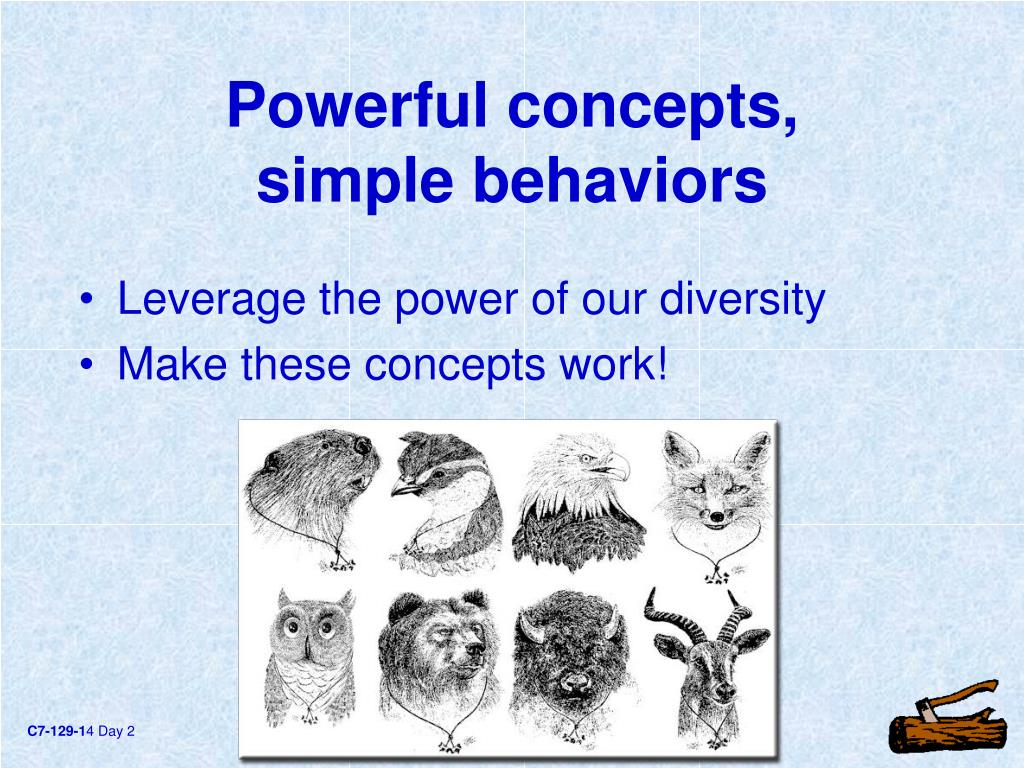 Powerful concepts,