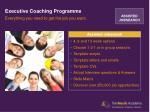 executive coaching programme
