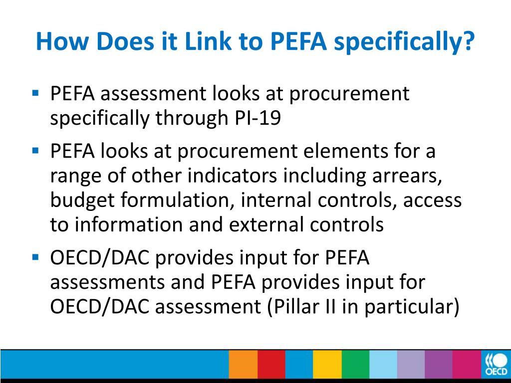 How Does it Link to PEFA specifically?