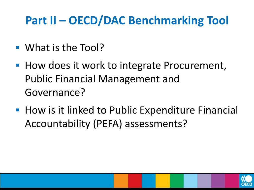 Part II – OECD/DAC Benchmarking Tool