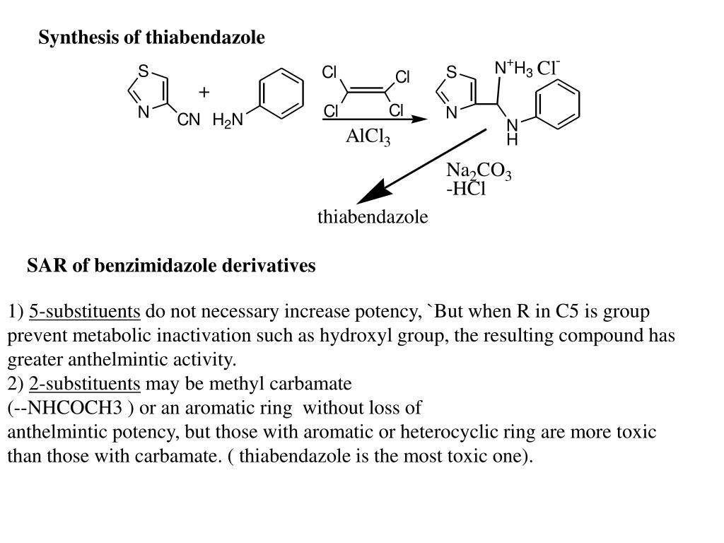 Benzimidazole anthelmintic agents, Un spectru larg de viermi
