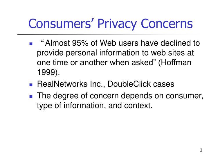 Consumers privacy concerns