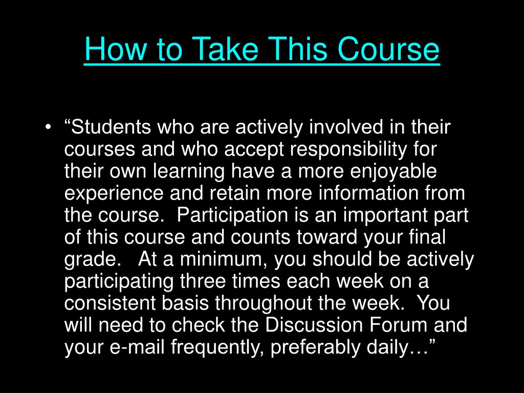 How to Take This Course