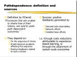 pathdependence definition and sources
