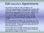 edit instructor s appointments