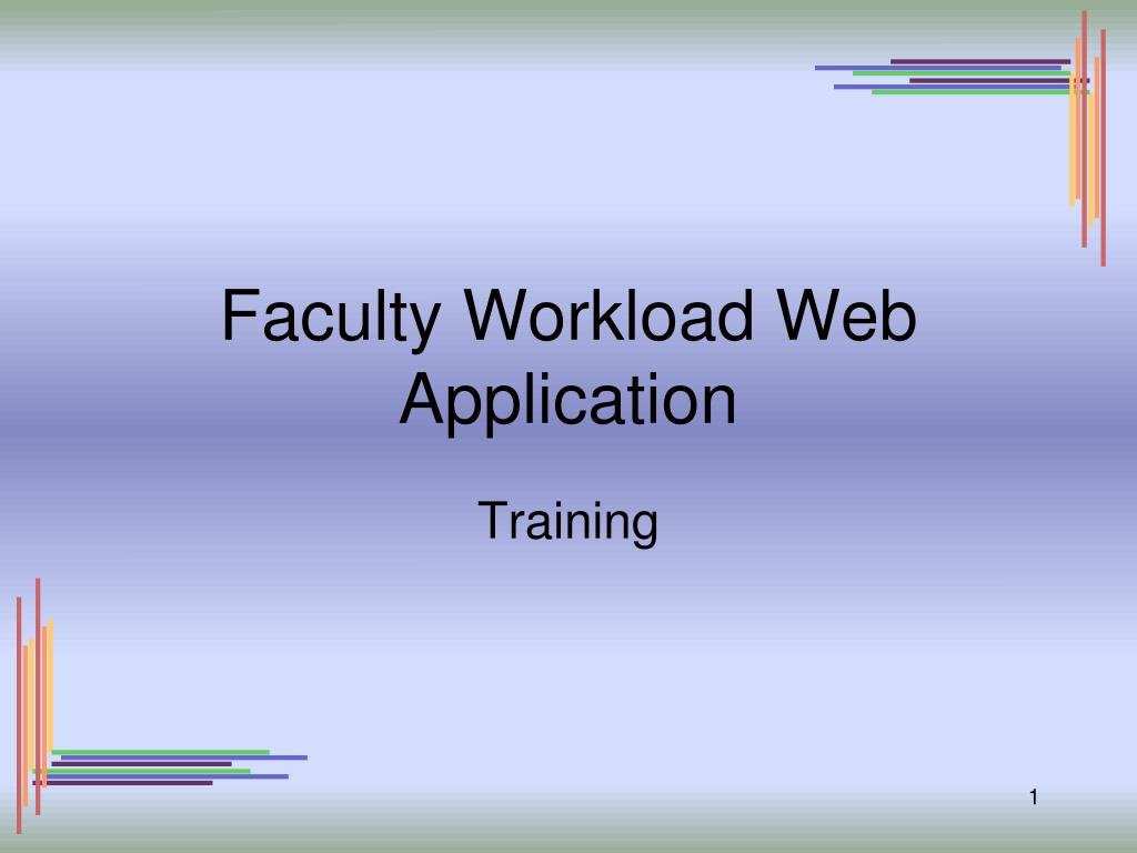 faculty workload web application l.