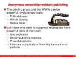 anonymous censorship resistant publishing