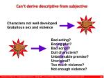 can t derive descriptive from subjective