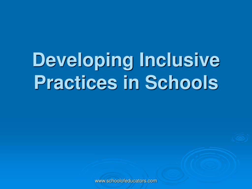 curriculum development for inclusive practice 2 essay - inclusive approach essay introduction ' this essay discusses two possible solutions for the issue and explicitly presents my personal my interpretation of inclusion is bringing all students together, treating them equally and offering them various opportunities to foster all their areas of development.