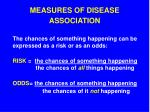 measures of disease association2