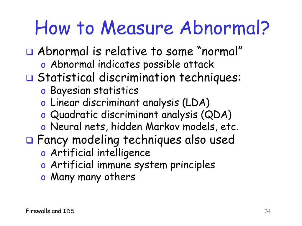 How to Measure Abnormal?