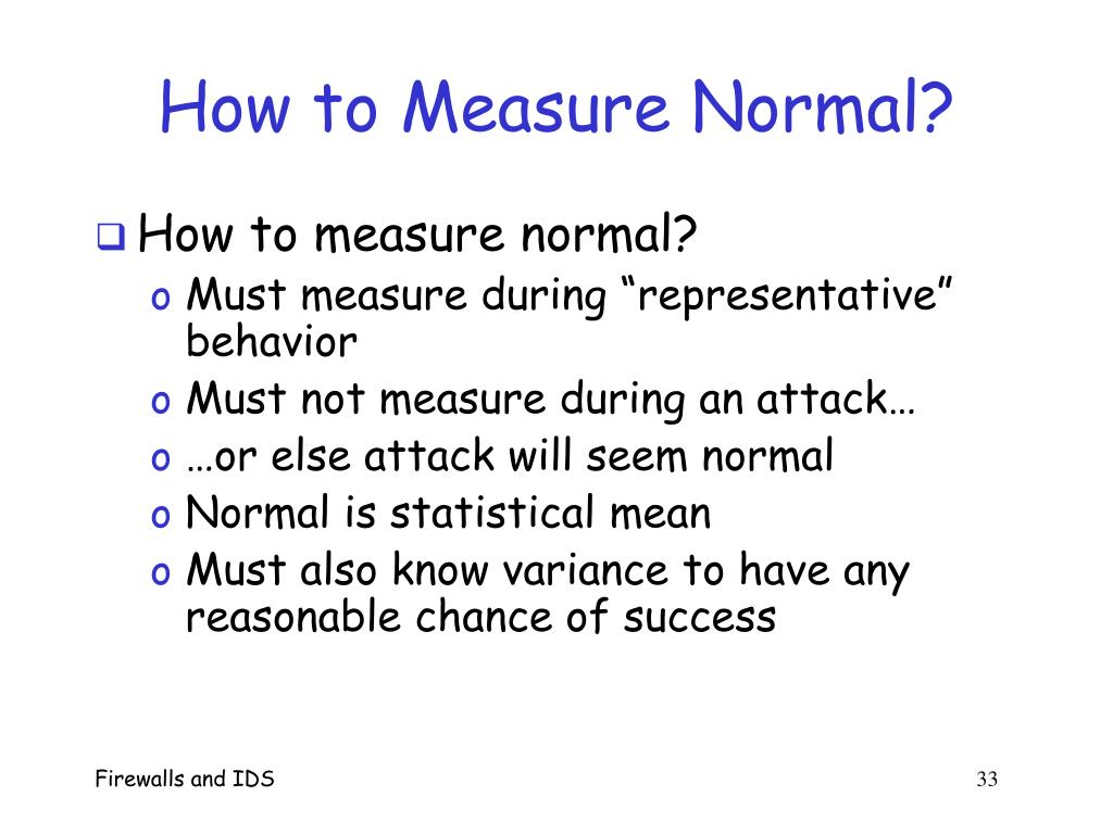 How to Measure Normal?