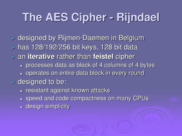 aes ciphers and confidentiality db essay +confidentiality +integrity +availability these three are the fundamental characteristics of data that must be protected confidentiality means that only authorized persons can access information integrity ensures that the information is correct.