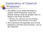 explanation of classical problems