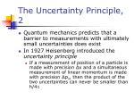 the uncertainty principle 2