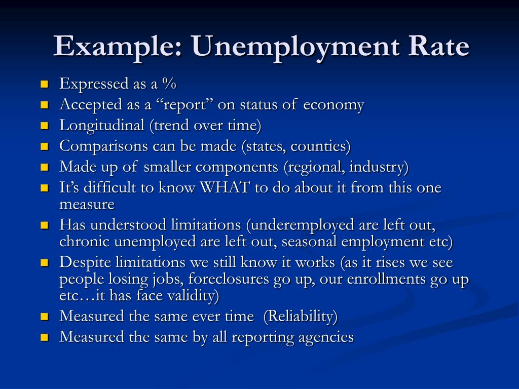 Example: Unemployment Rate