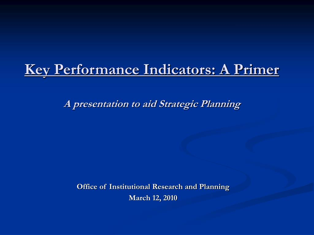 Key Performance Indicators: A Primer