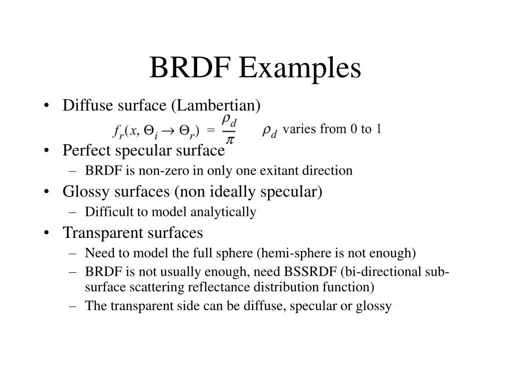 BRDF Examples