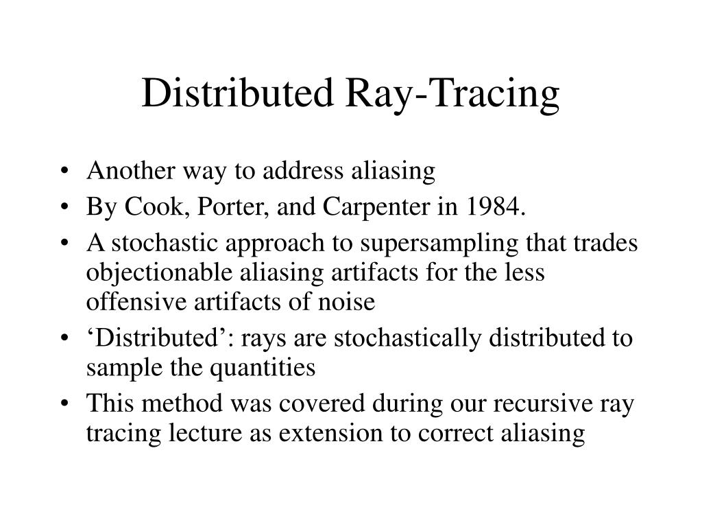 Distributed Ray-Tracing