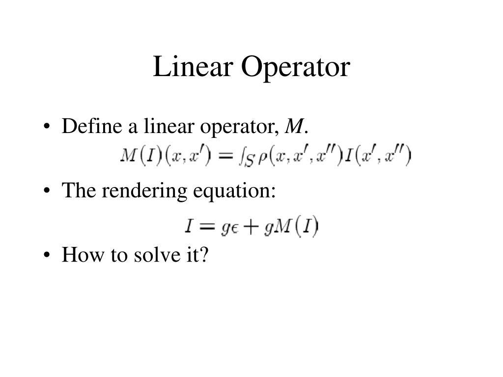 Linear Operator