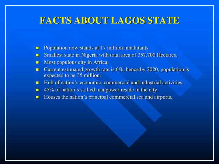 Facts about lagos state