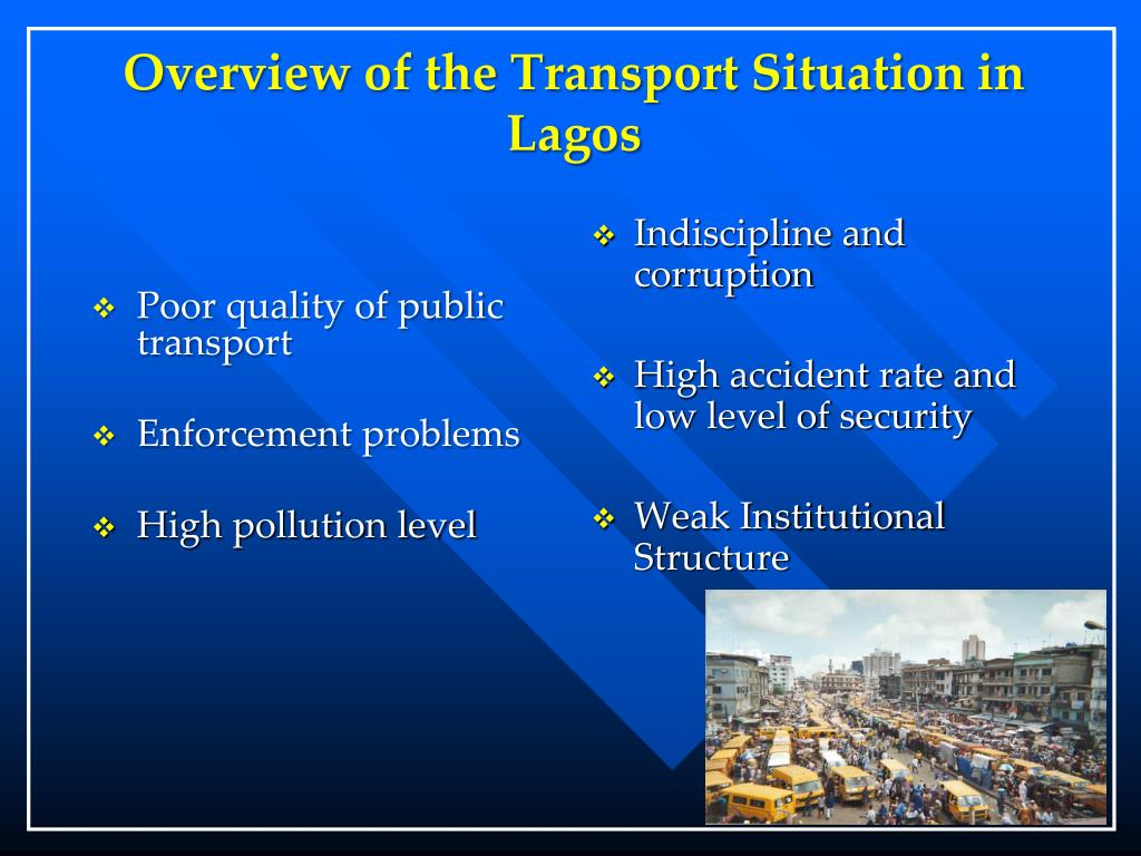 Overview of the Transport Situation in Lagos