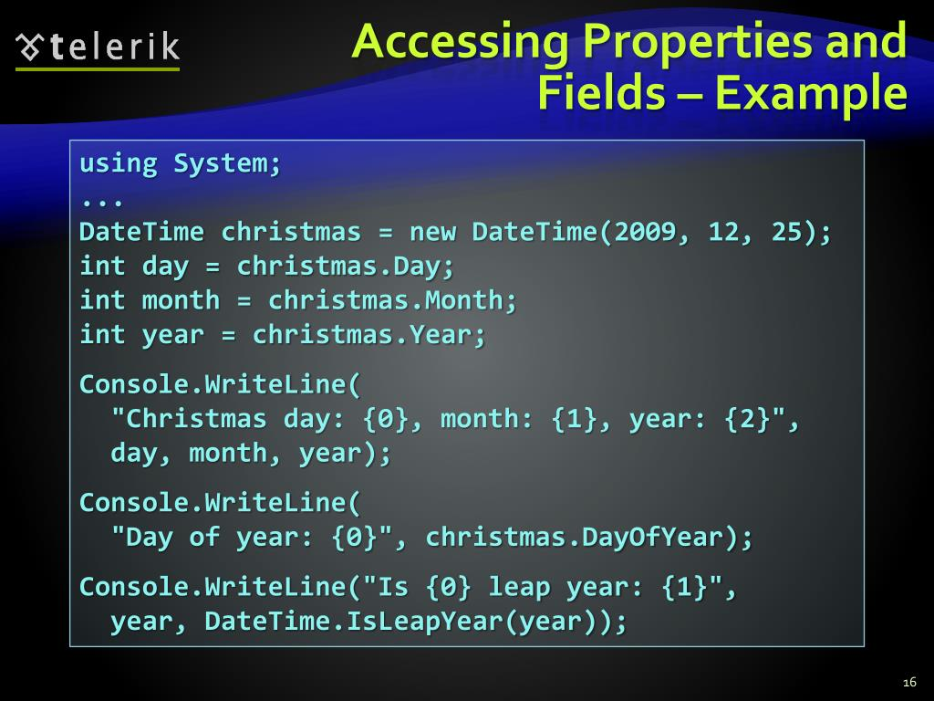 Accessing Properties and