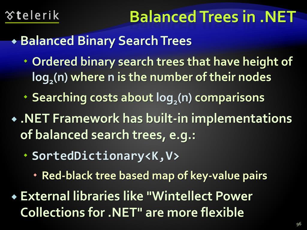 Balanced Trees in .NET