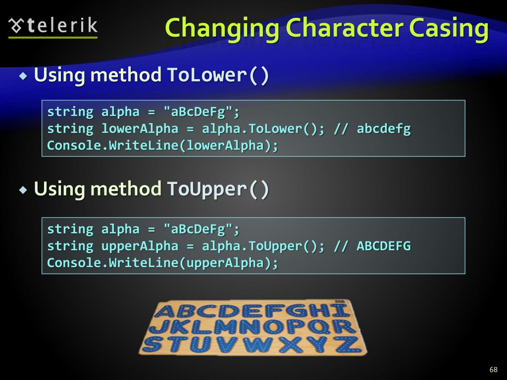 Changing Character Casing