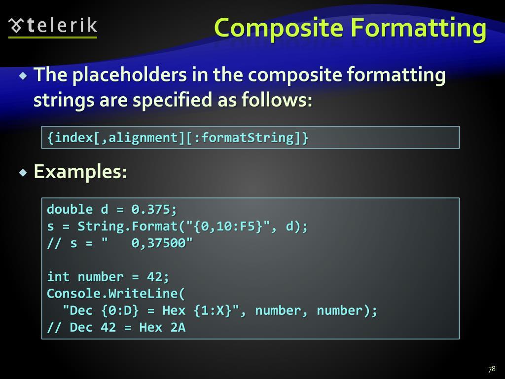 Composite Formatting