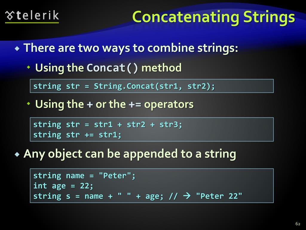 Concatenating Strings