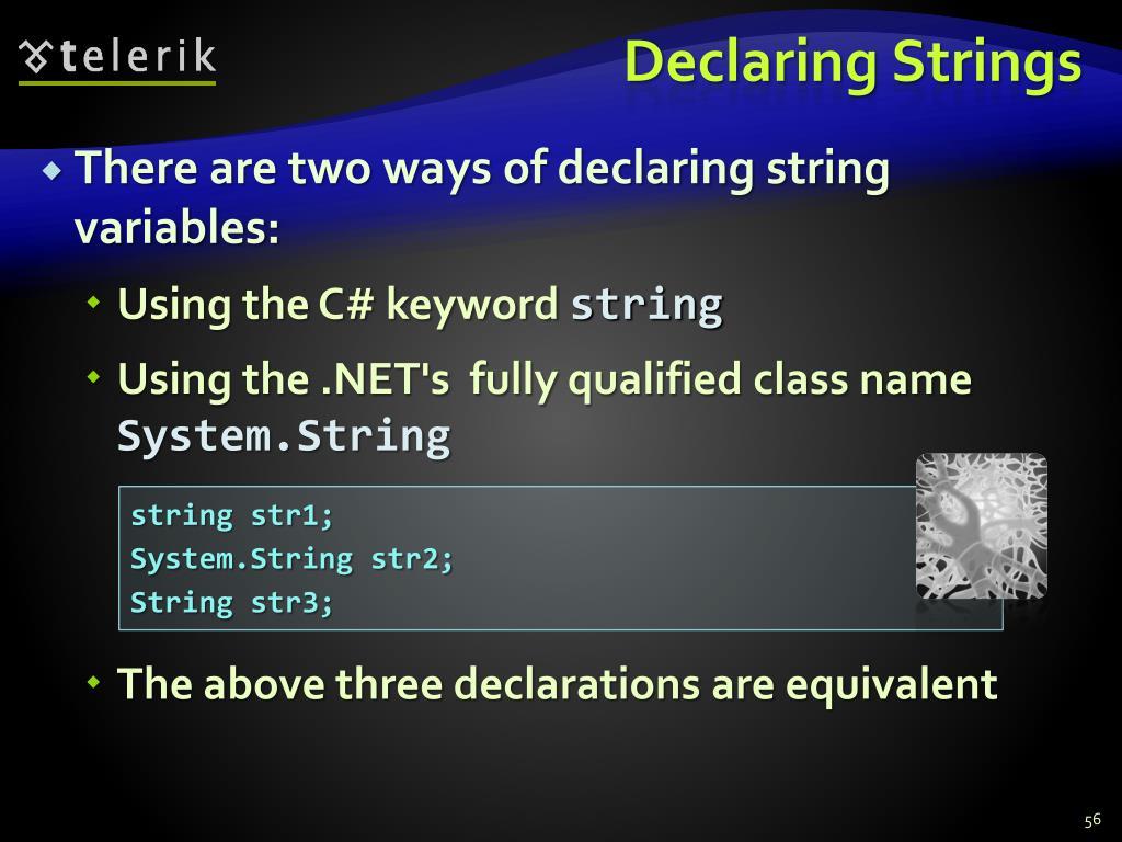 Declaring Strings