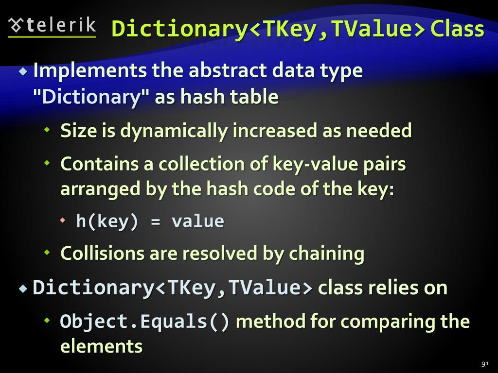 Dictionary<TKey,TValue>