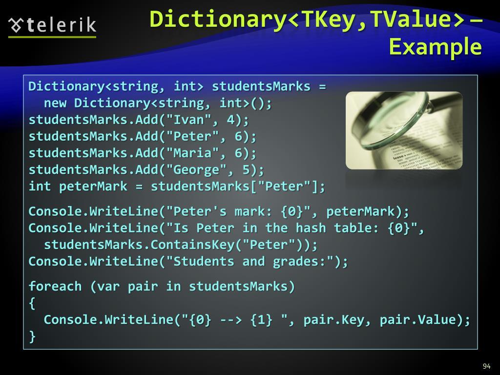 Dictionary<TKey,TValue