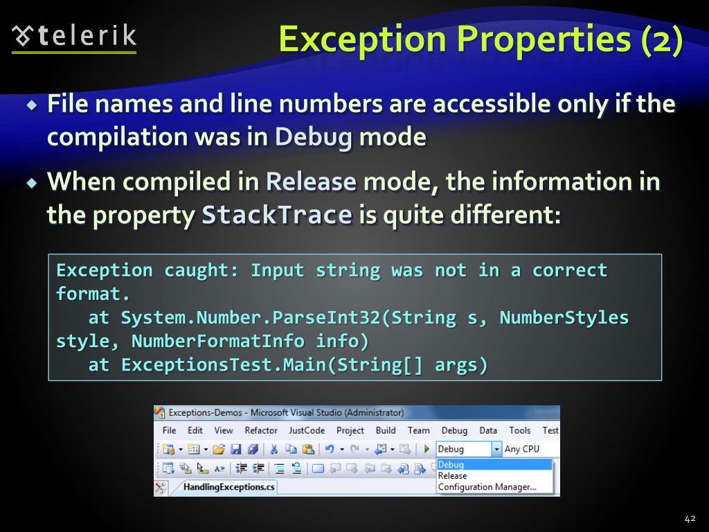 Exception Properties (2)