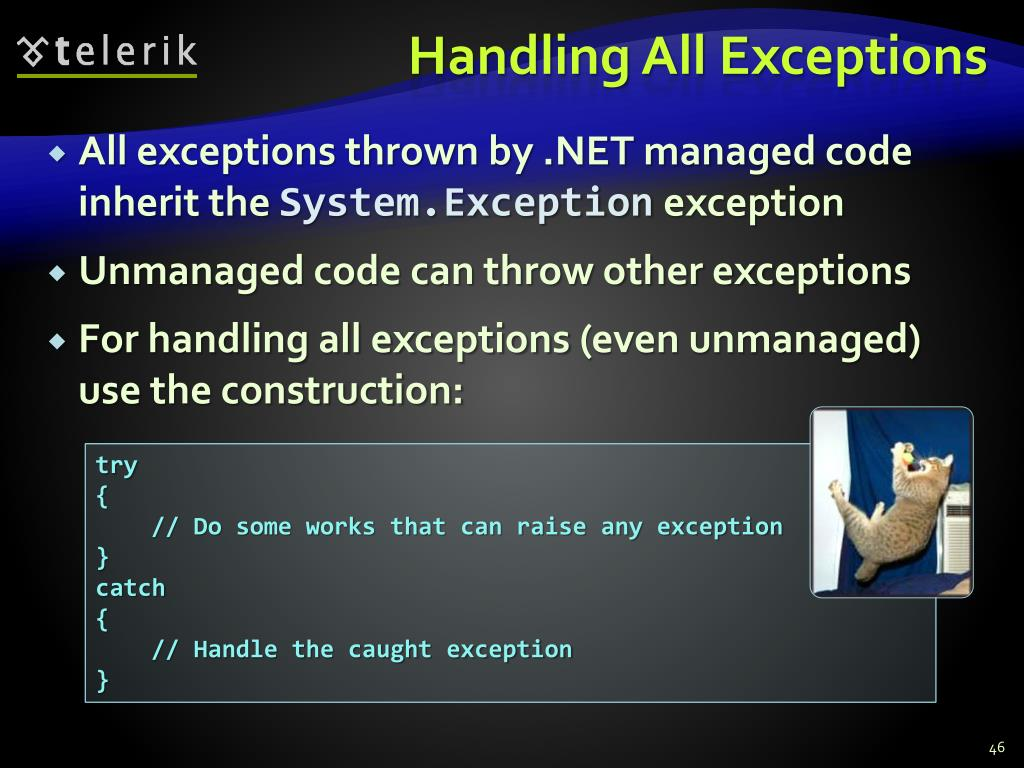 Handling All Exceptions