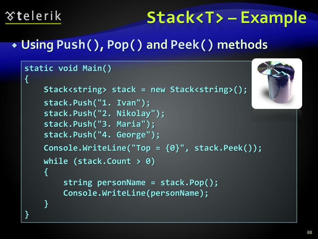 Stack<T>