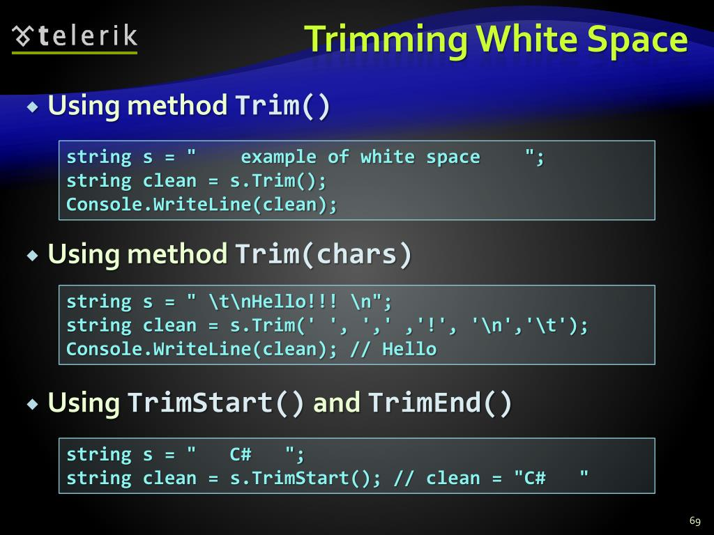 Trimming White Space