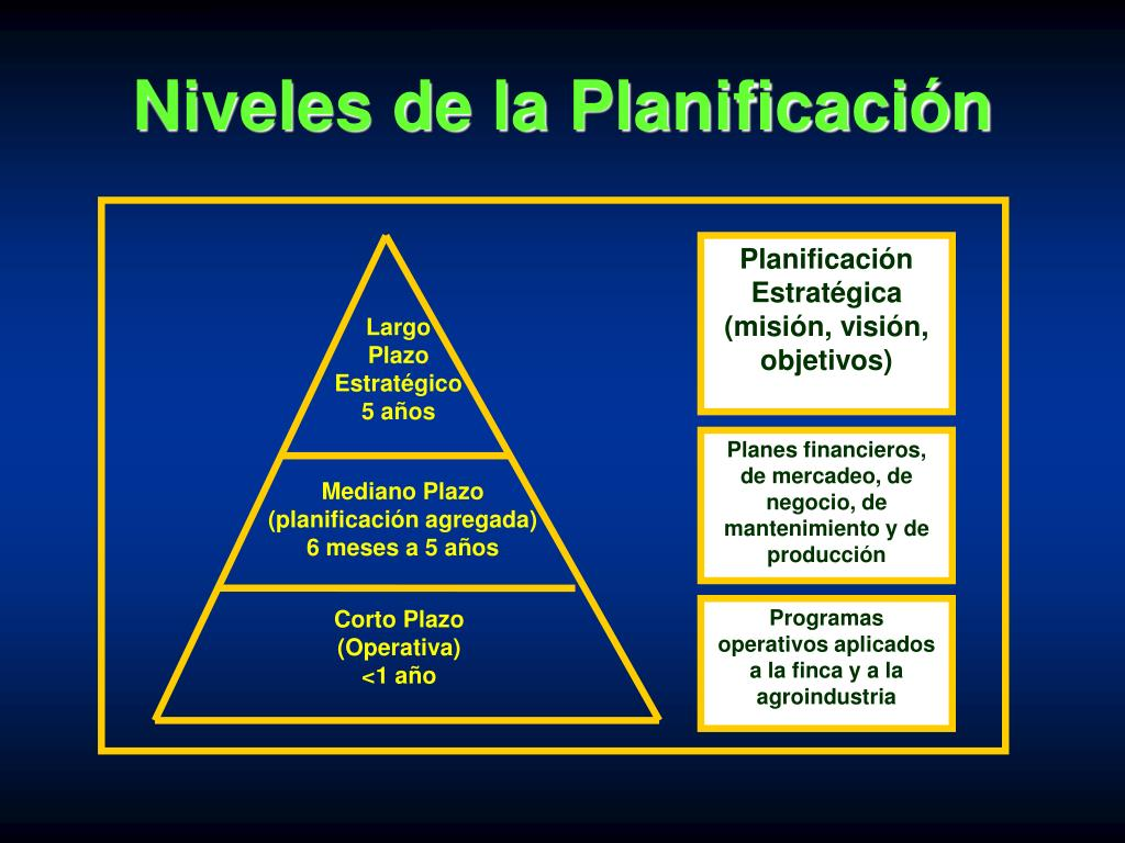 Niveles de la Planificación