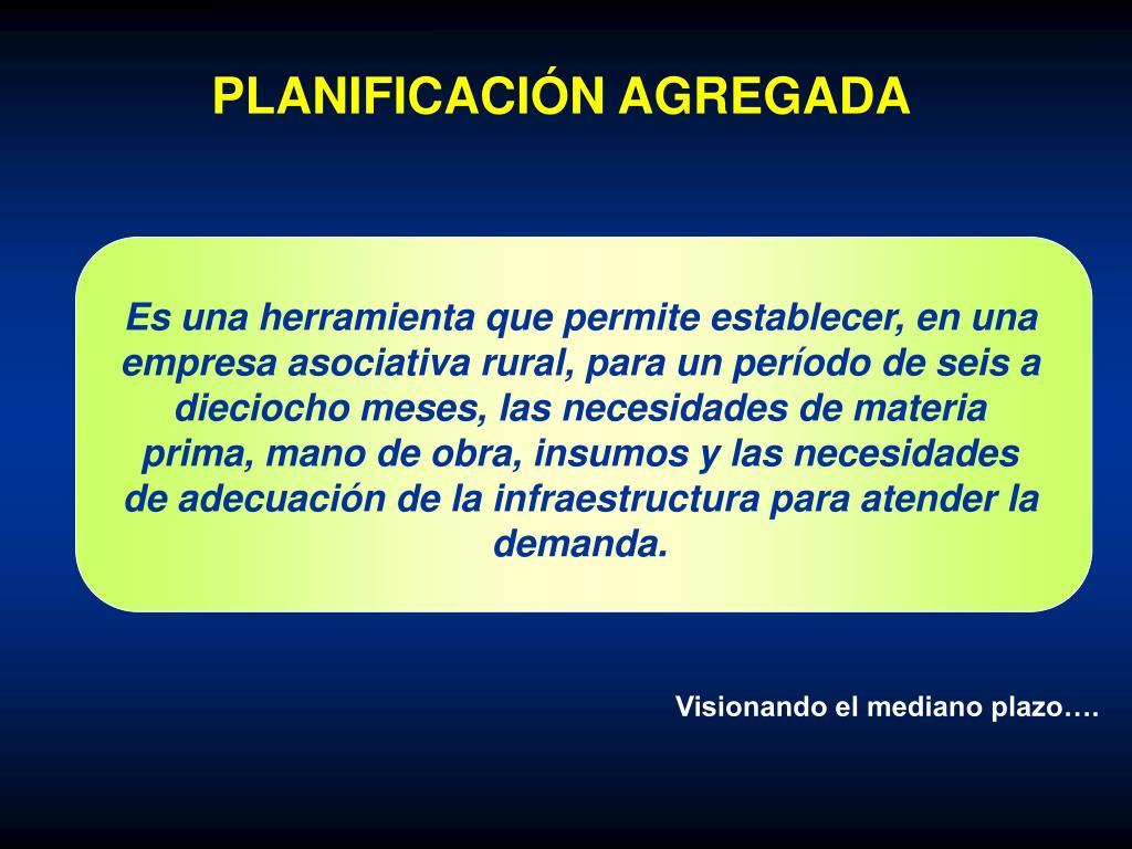 PLANIFICACIÓN AGREGADA