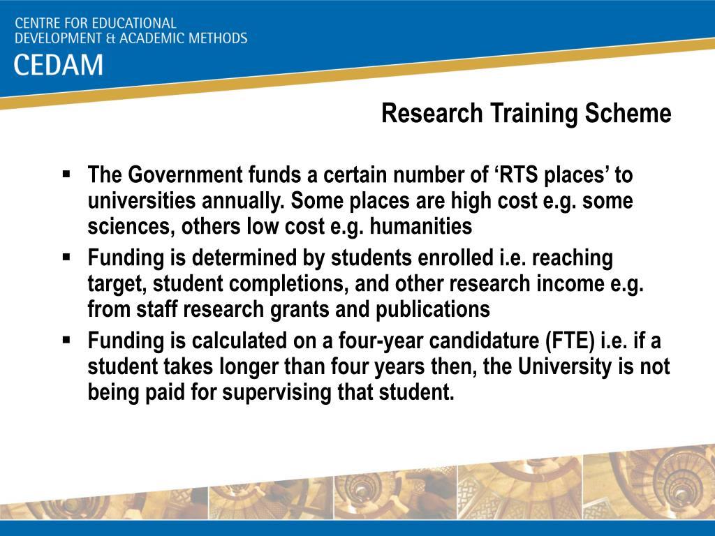Research Training Scheme