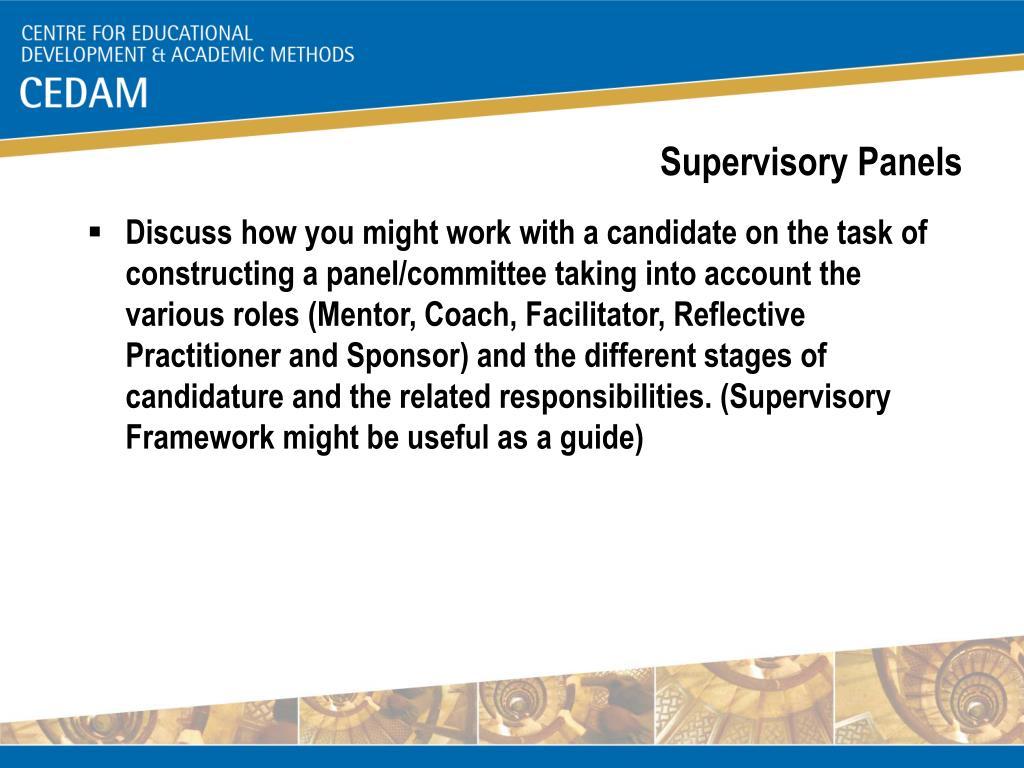 Supervisory Panels
