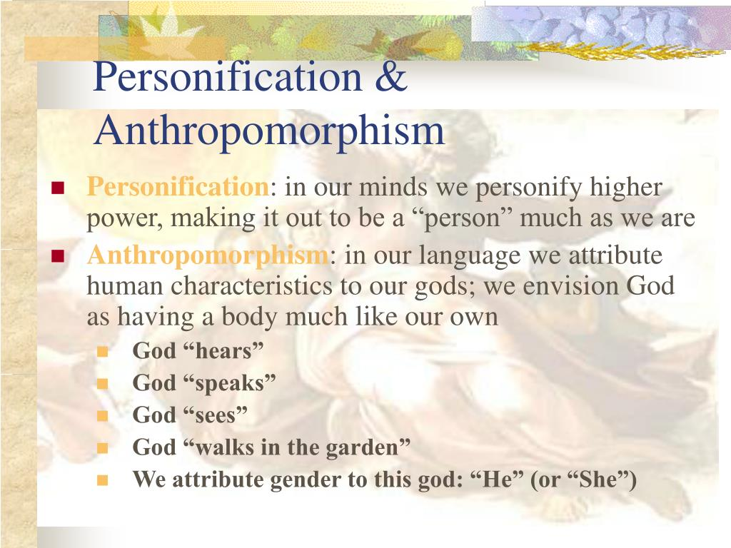 Personification & Anthropomorphism