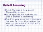 default reasoning