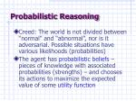 probabilistic reasoning