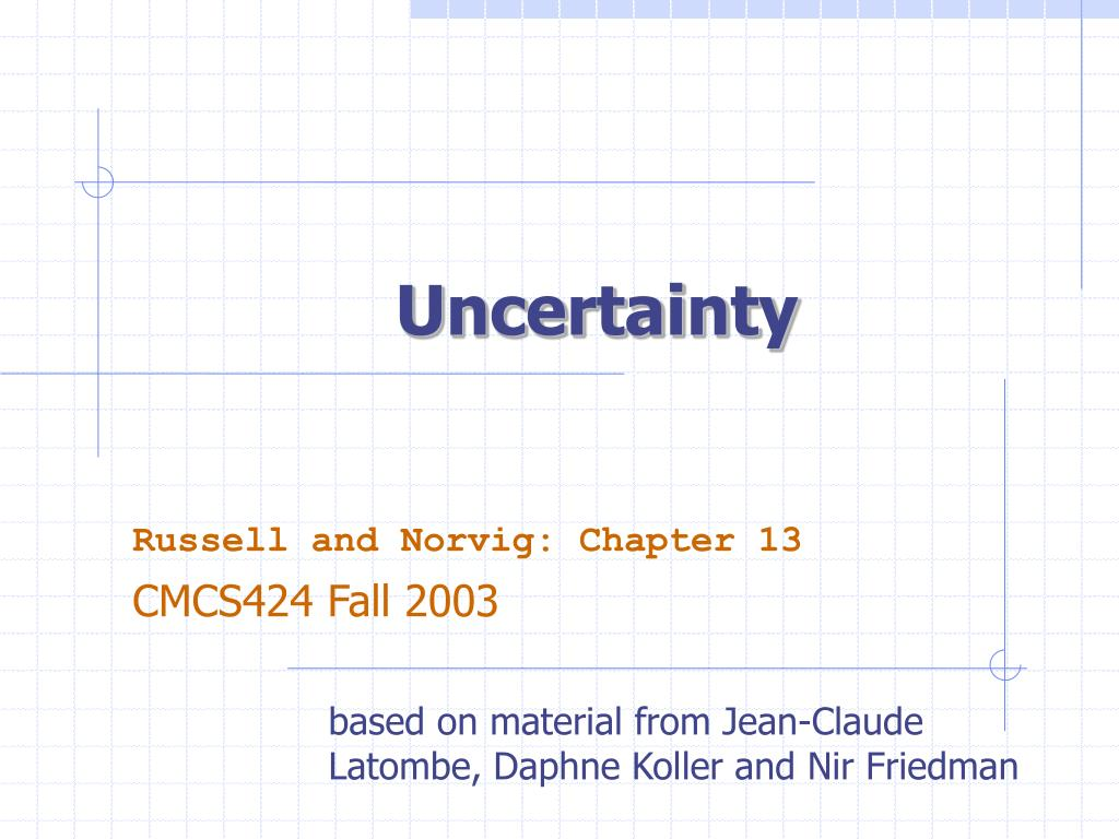 uncertainty l.