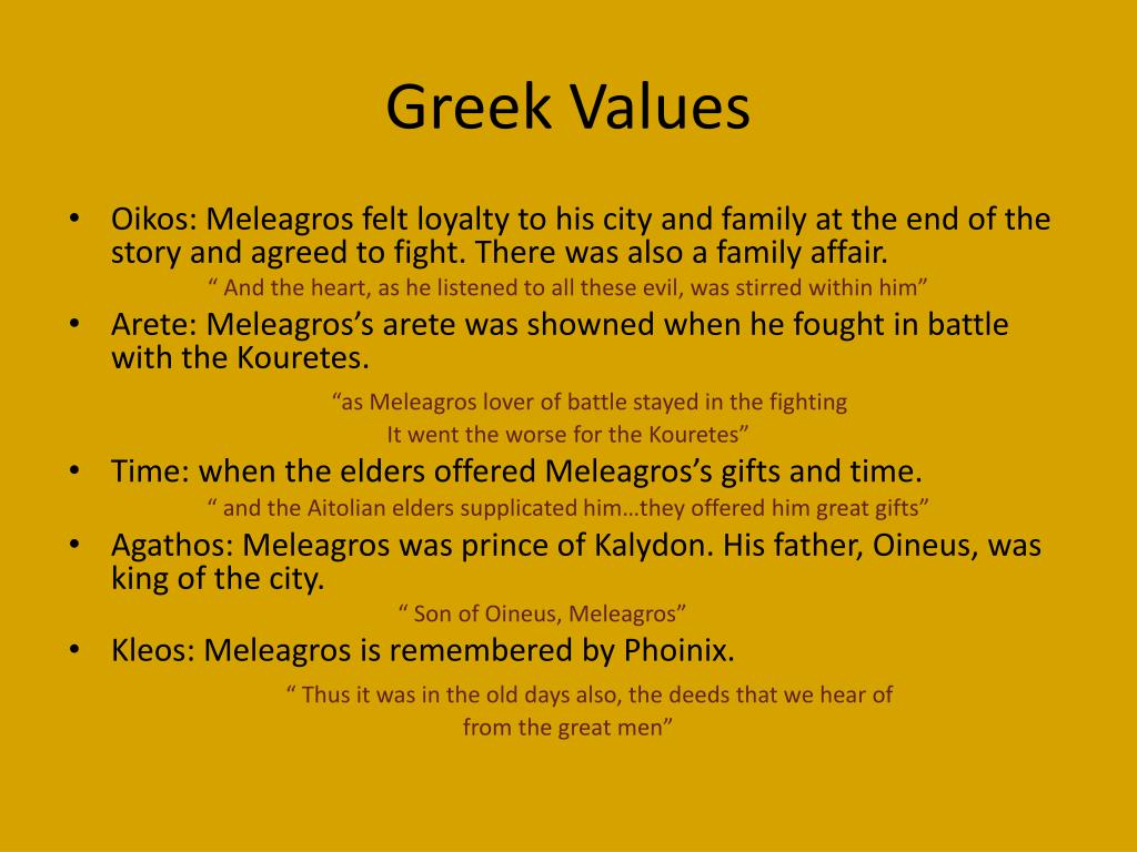 Greek Values